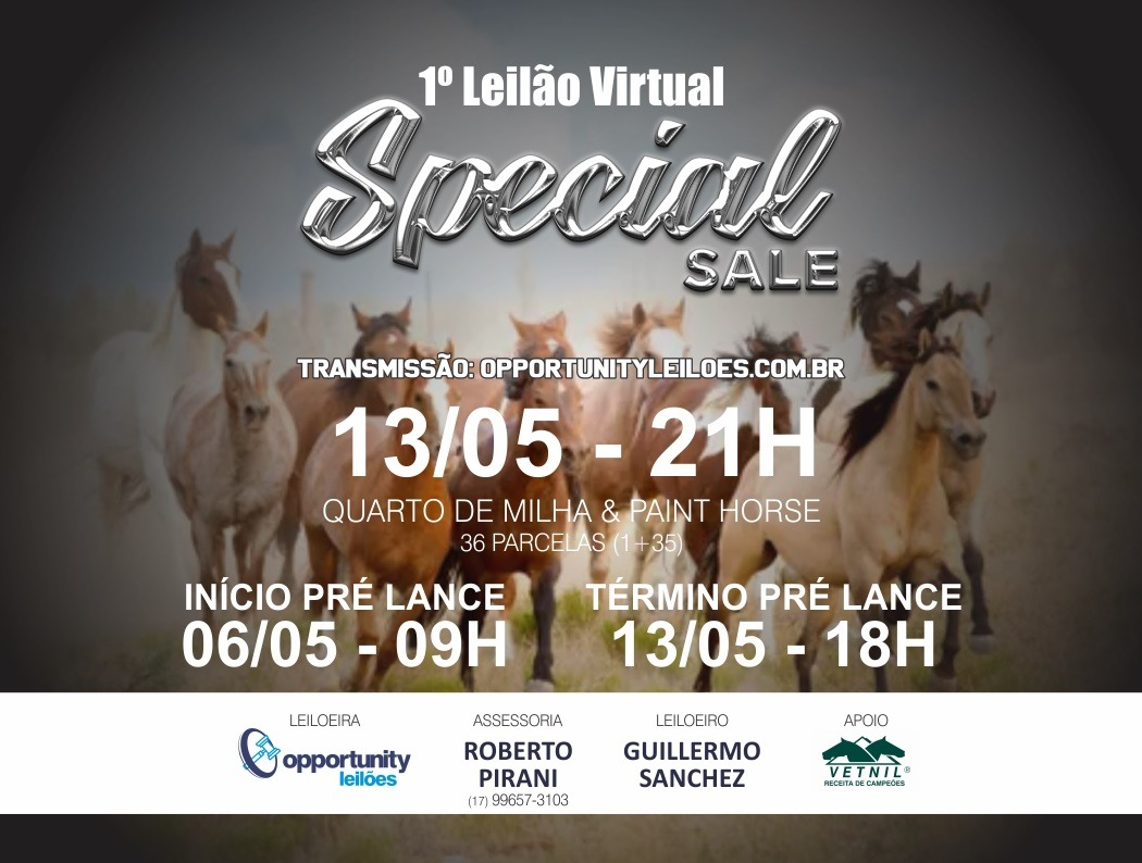 LEILÃO VIRTUAL SPECIAL SALE | QM & PH