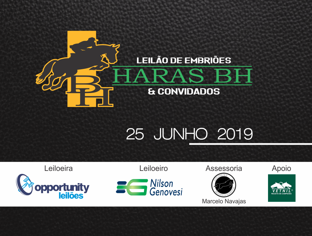 LEILÃO VIRTUAL EMBRIÕES HARAS BH & CONVIDADOS