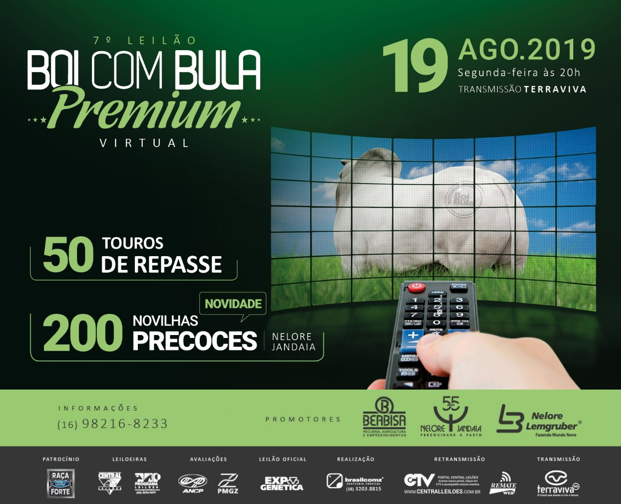 7º LEILÃO BOI COM BULA PREMIUM - VIRTUAL