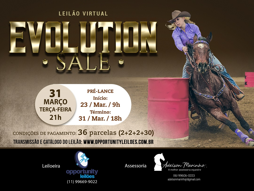 LEILÃO VIRTUAL EVOLUTION SALE