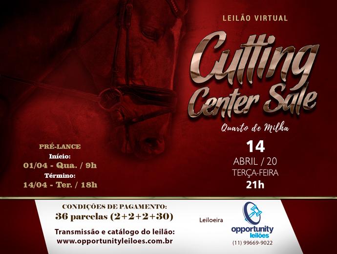 LEILÃO VIRTUAL CUTTING CENTER SALE
