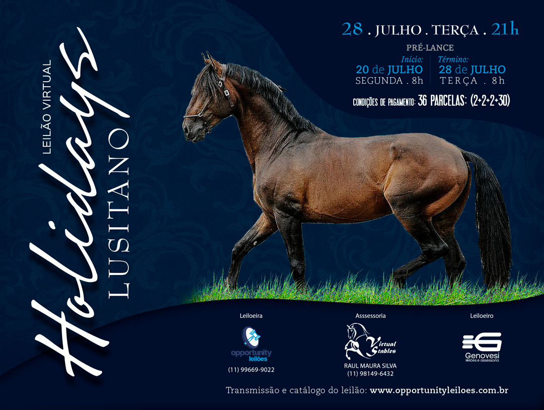 LEILÃO VIRTUAL HOLIDAYS LUSITANO