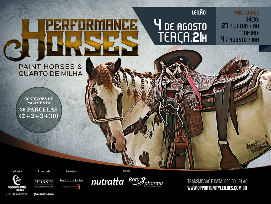 LEILÃO VIRTUAL PERFORMANCE HORSES