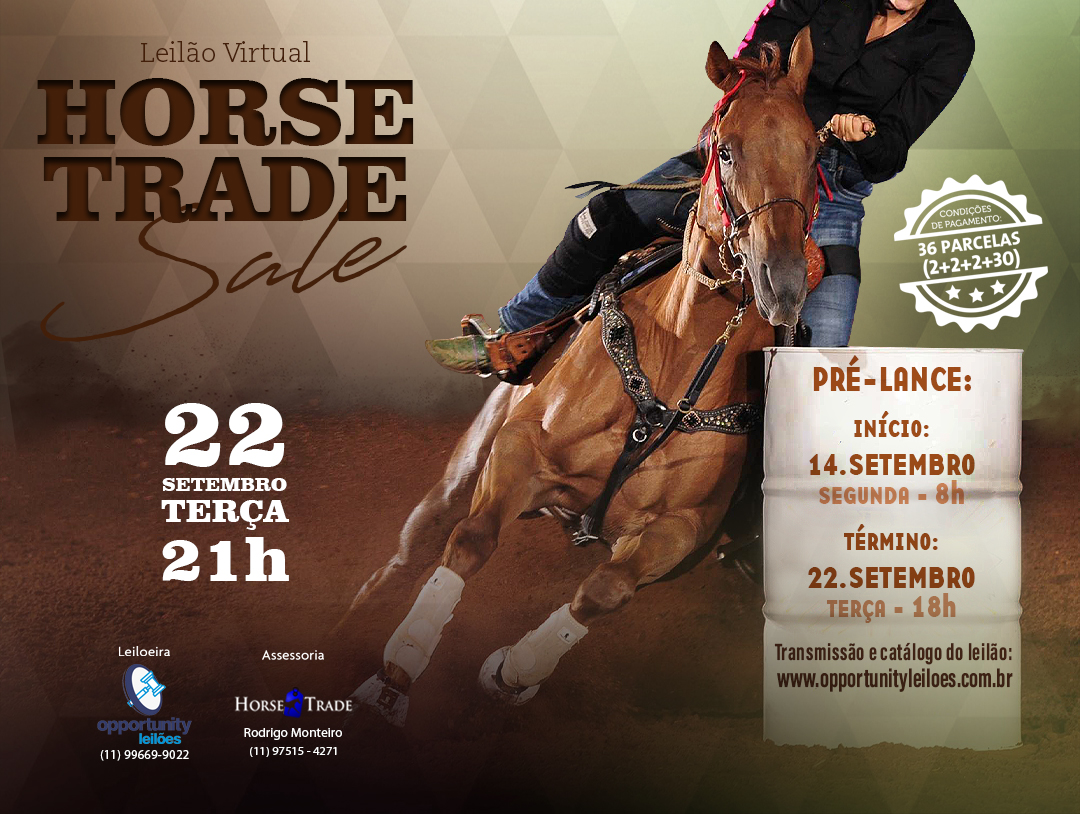 LEILÃO VIRTUAL HORSE TRADE SALE