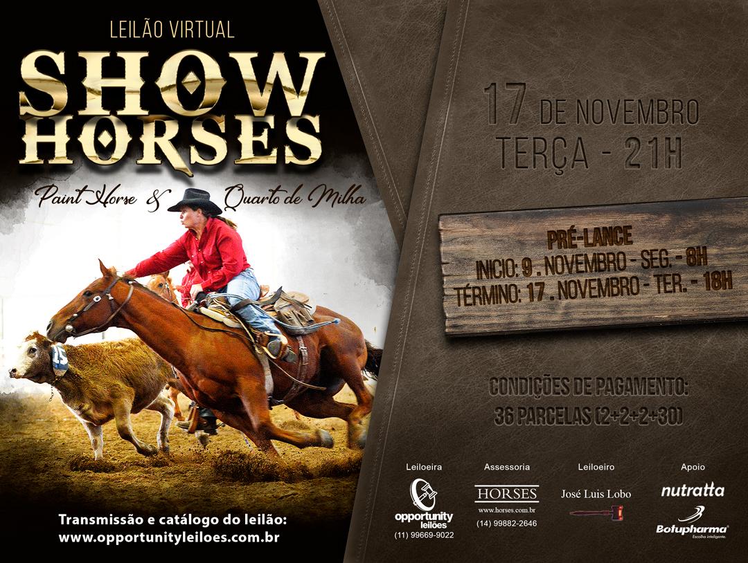LEILÃO VIRTUAL SHOW HORSES