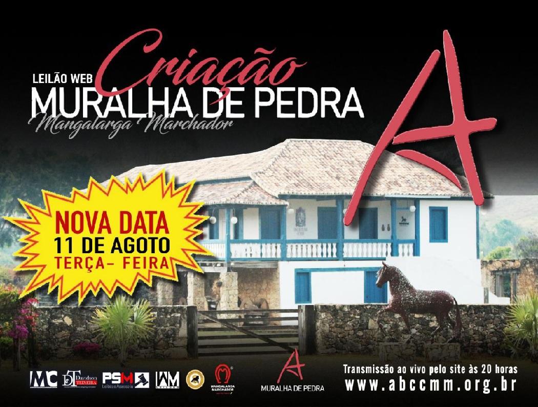 LEILÃO WEB CRIAÇÃO MURALHA DE PEDRA