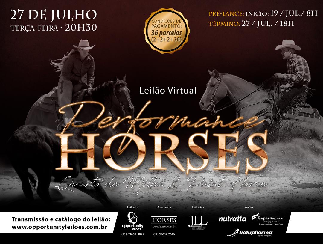 LEILÃO VIRTUAL PERFORMANCE HORSES