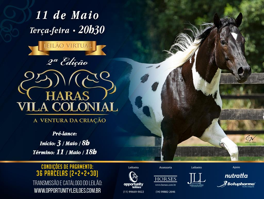 2º LEILÃO VIRTUAL HARAS VILA COLONIAL