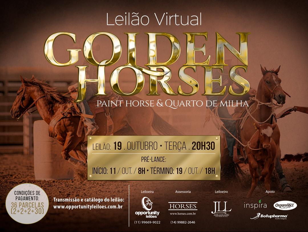 LEILÃO VIRTUAL GOLDEN HORSES