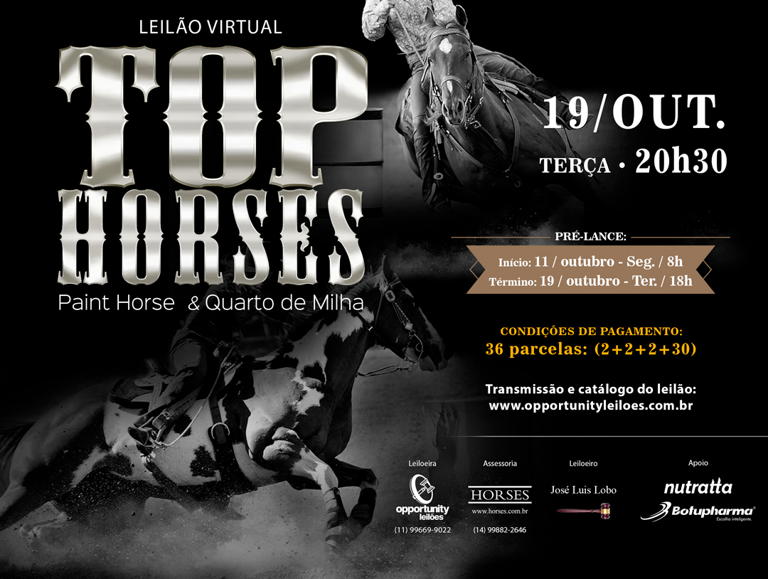 LEILÃO VIRTUAL TOP HORSES - PH & QM