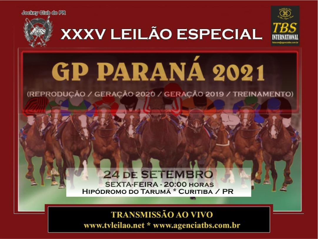 XXXV LEILÃO ESPECIAL - GP PARANÁ 2021